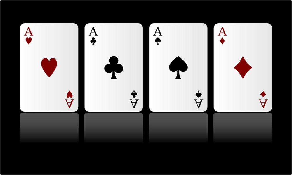 aces video poker win cards