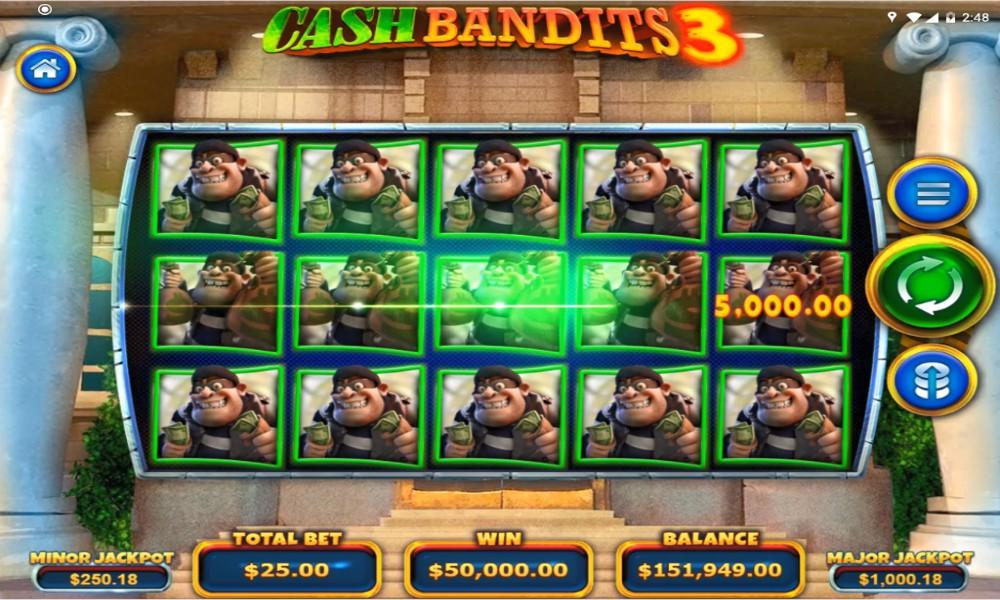 cash bandits 3 slot win